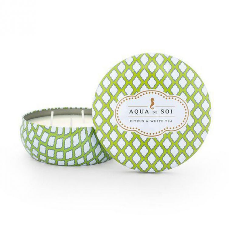 Candle Tin 3 Wick<br>Citrus and White Tea