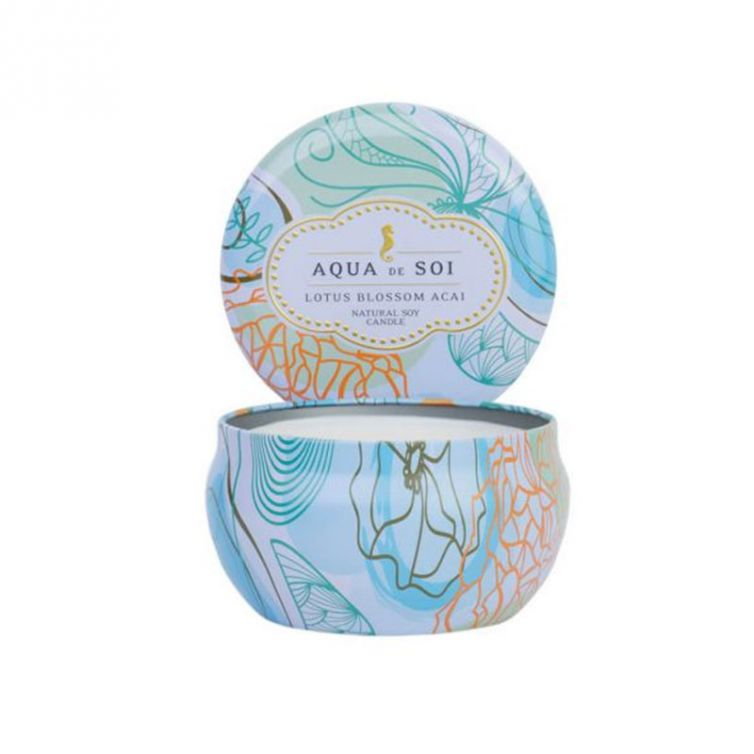 Candle Tin Single Wick<br>Lotus Blossom Acai