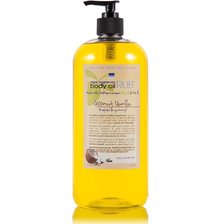 body oil RUB 32oz<br>Coconut Vanilla