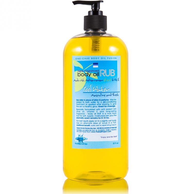 body oil RUB 32oz<br>Cool Water