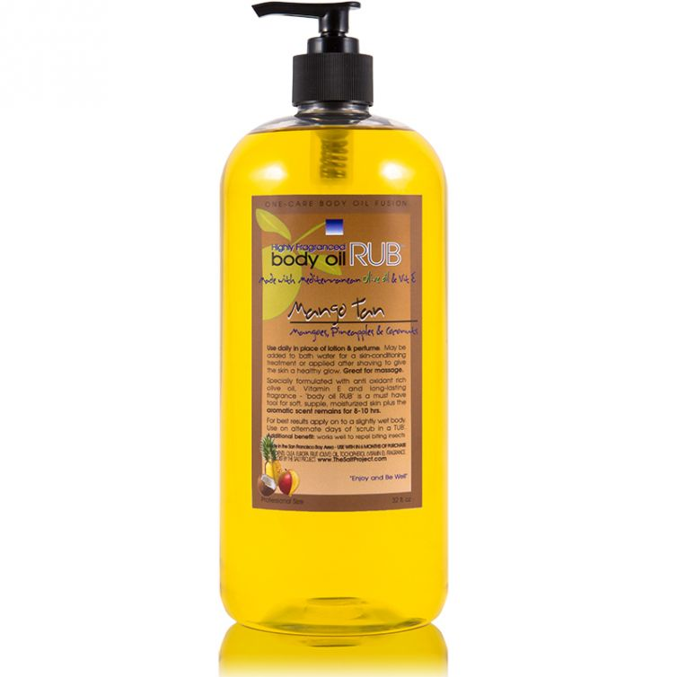 body oil RUB 32oz<br>Mango Tan