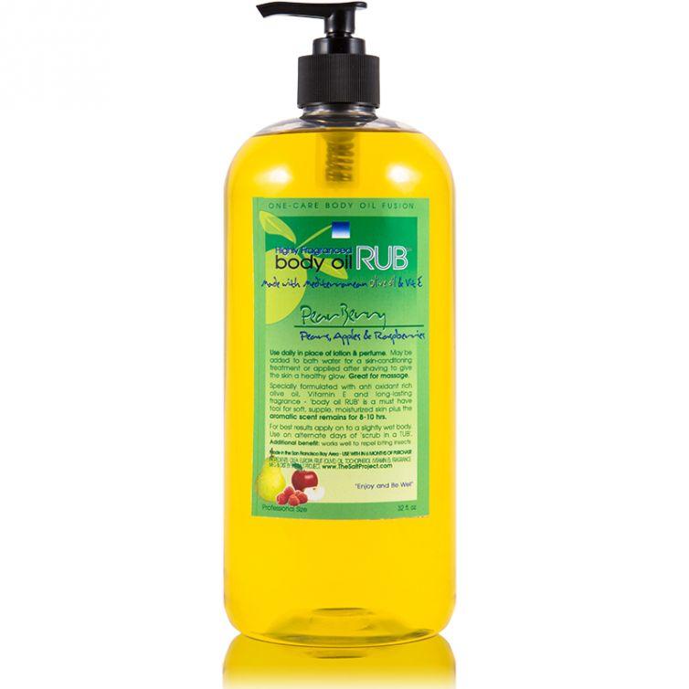 body oil RUB 32oz<br>Pear Berry