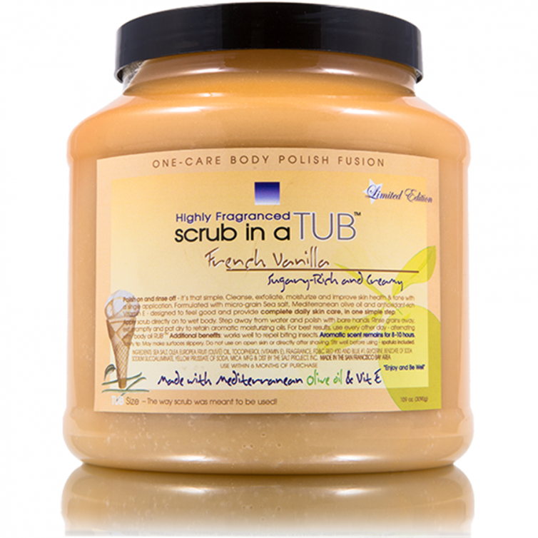 scrub in a TUB 109oz<br>French Vanilla<br>Limited Edition