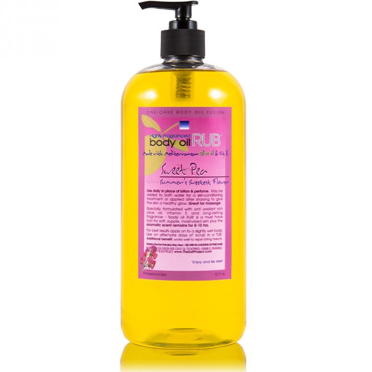 body oil RUB 32oz<br>Sweet Pea