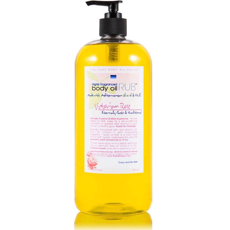 body oil RUB 32oz<br>Victorian Rose