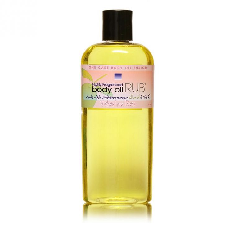 body oil RUB 8oz<br>Victorian Rose