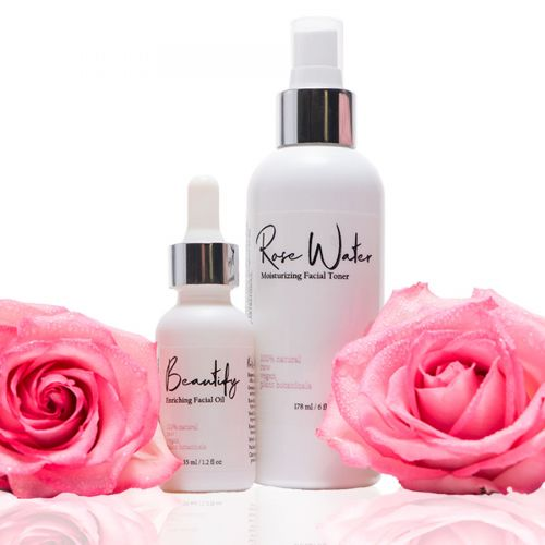 Beautify<br>Enriching Facial Oil<br>+ Rose Water<br>Moisturizing Toner